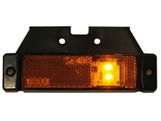 Sidomarkeringsljus LED orange 12-24V