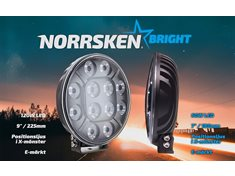 "Norrsken BRIGHT 9"" LED Extraljus med positionsljus"